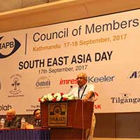 Thulasiraj Ravilla at the IAPB Council of Members 2017